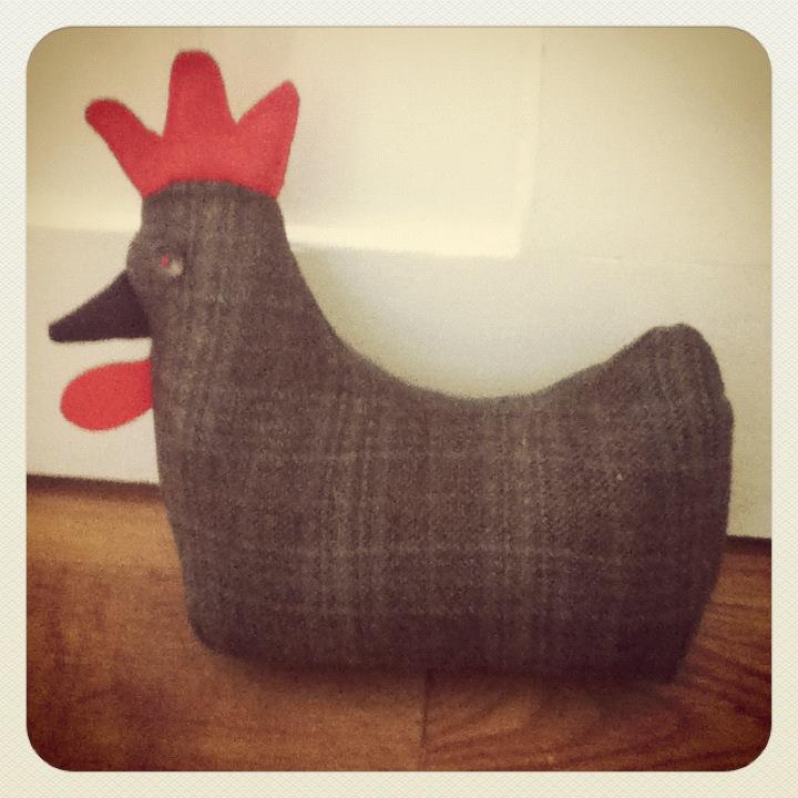 Sew yourself a chicken doorstop the dorset finca - Chicken doorstops ...