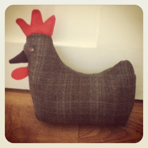 Easter Chicken Doorstop