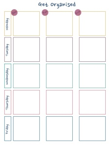 DIY Working Week Planner - Free Download!