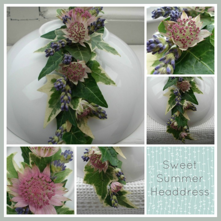 Astrantia and Lavender Headdress