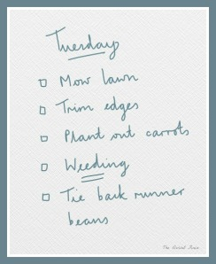 my Tuesday list