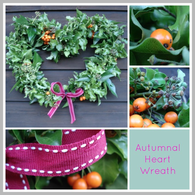 Autumnal Heart Wreath