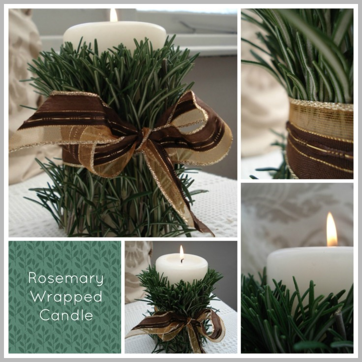 rosemary wrapped candle