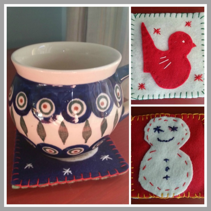 scented Christmas coasters