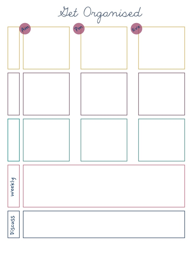 free download part time week planner
