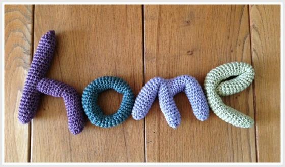 crochet home lettering