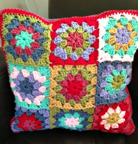 granny flower cushion front