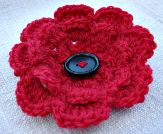 crochet frothy poppy