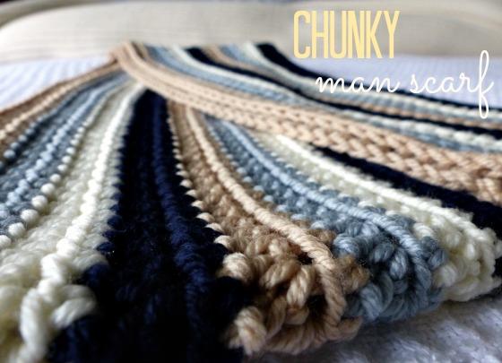 crochet chunky man scarf