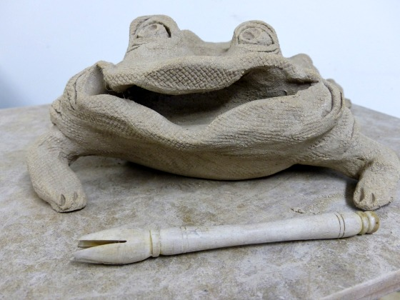 frog in progress