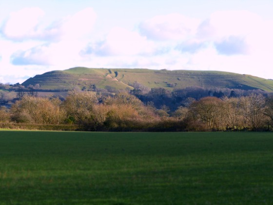 Hambledon Hill from the trailway