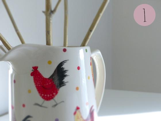 rooster ceramic jug