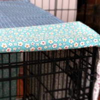 Fabric Dog Crate Cover DIY