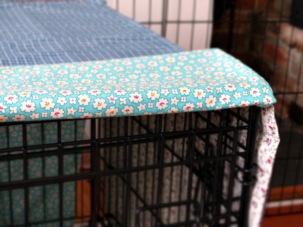 fabric dog crate cover DIY 115kb
