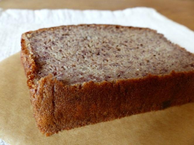 paleo banana bread close up