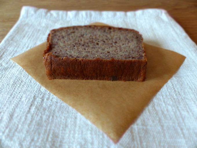paleo banana bread slice