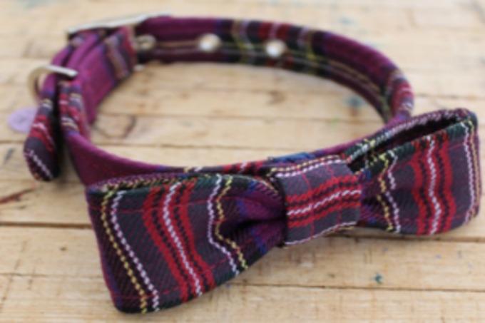 harris tweed bow sweetpea and boo