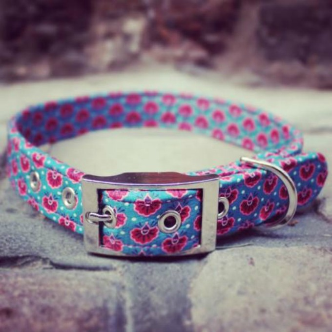 liberty fabric collar sweetpea and boo