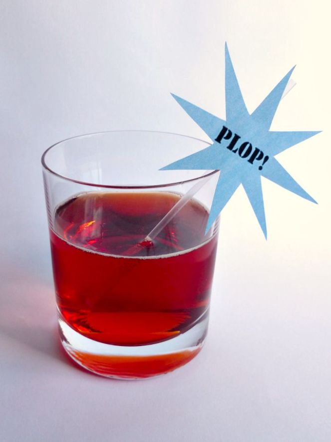 Plop cocktail stirrer