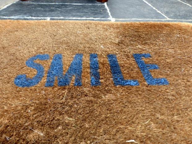 smile doormat in situ