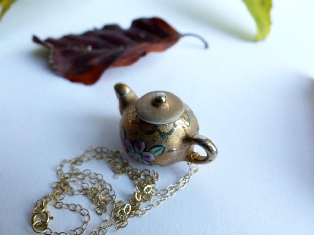 whimsical autumn teapot jewellery