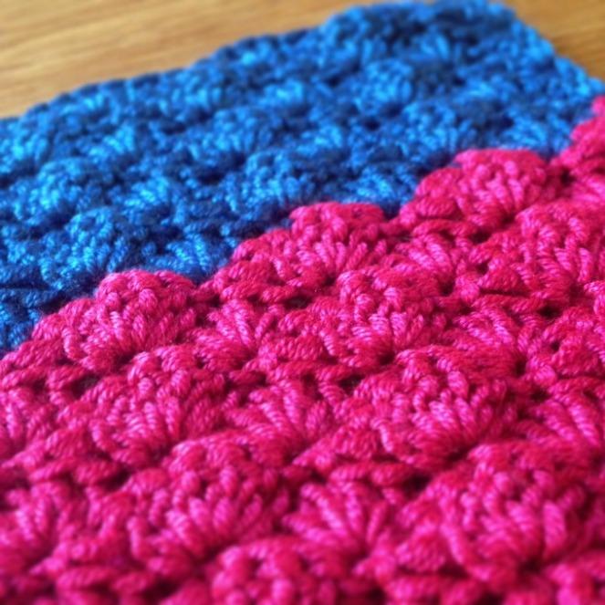 high contrast sea glass scarf