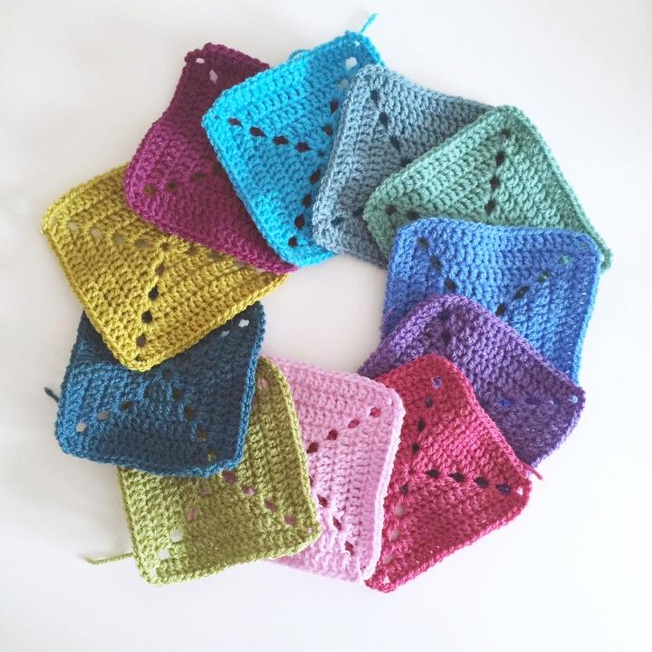 multicoloured granny squares