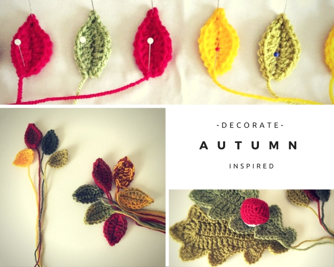 autumn crochet leaves