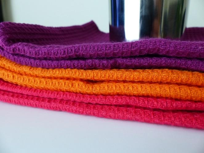 colourful tea towels