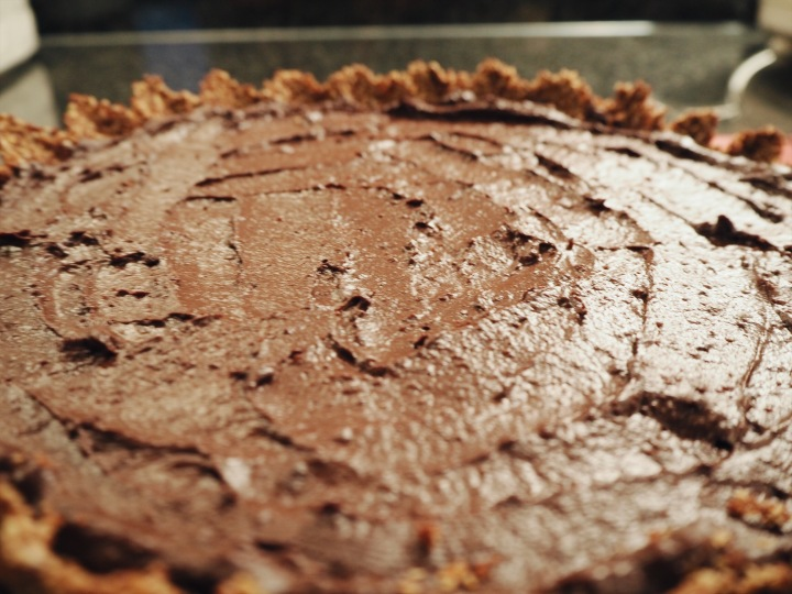 gluten free refined sugar free chocolate tart