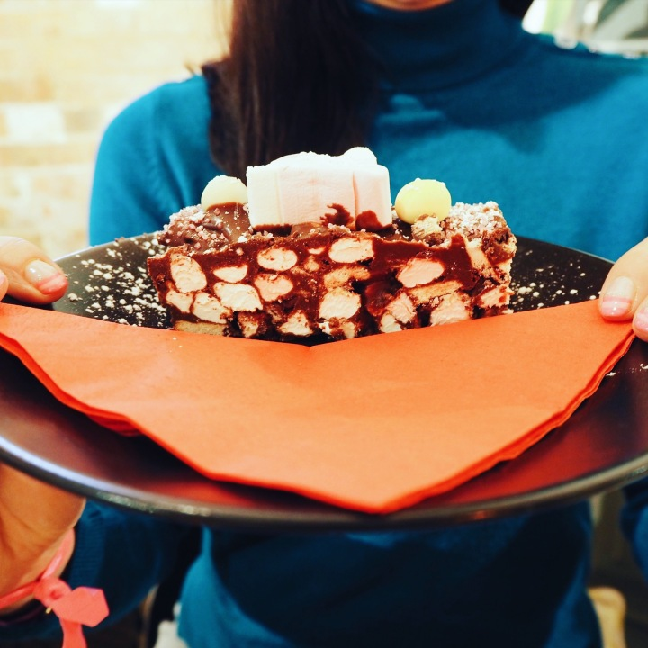 the most amazing rocky road cake