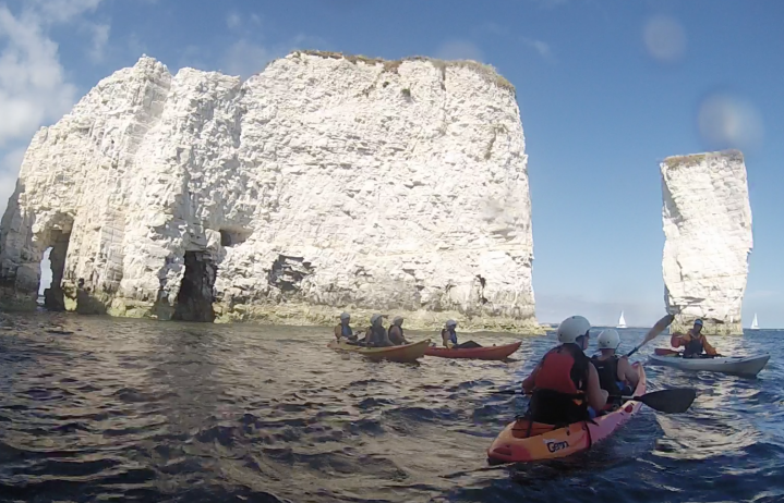 Old Harry On A Kayak