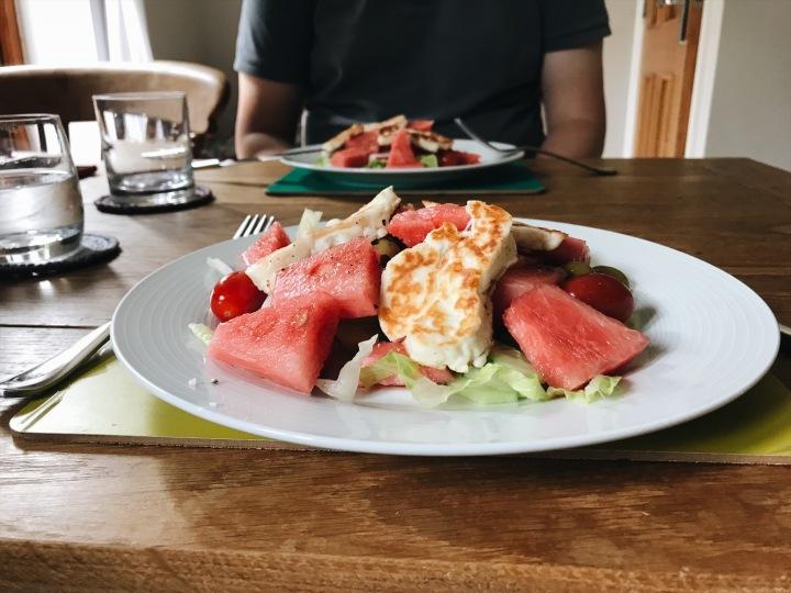 watermelon-and-halloumi-salad